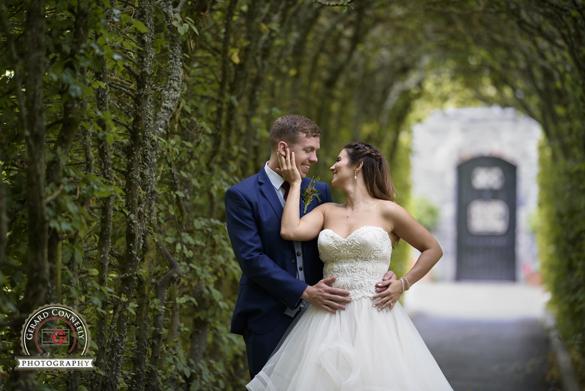 Married couple outdoor creative photography at Dromoland Castle