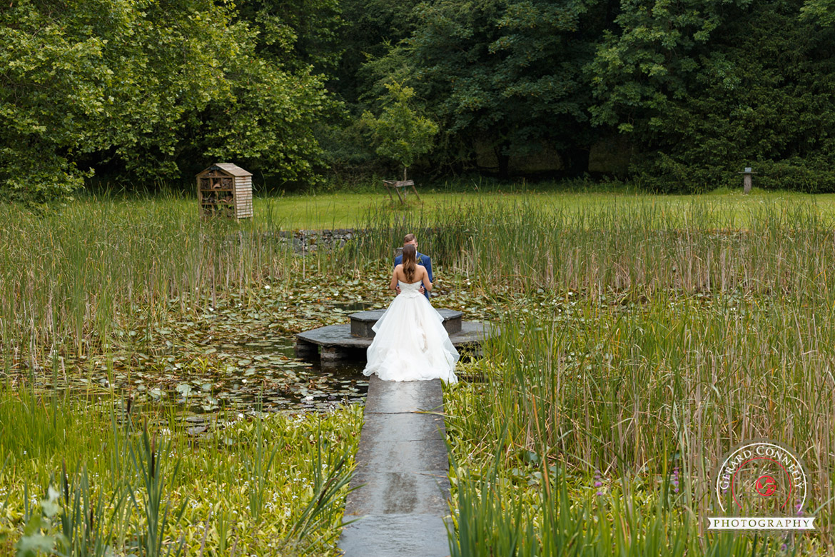 The lily pond at Dromoland Castle an ideal place for wedding photography
