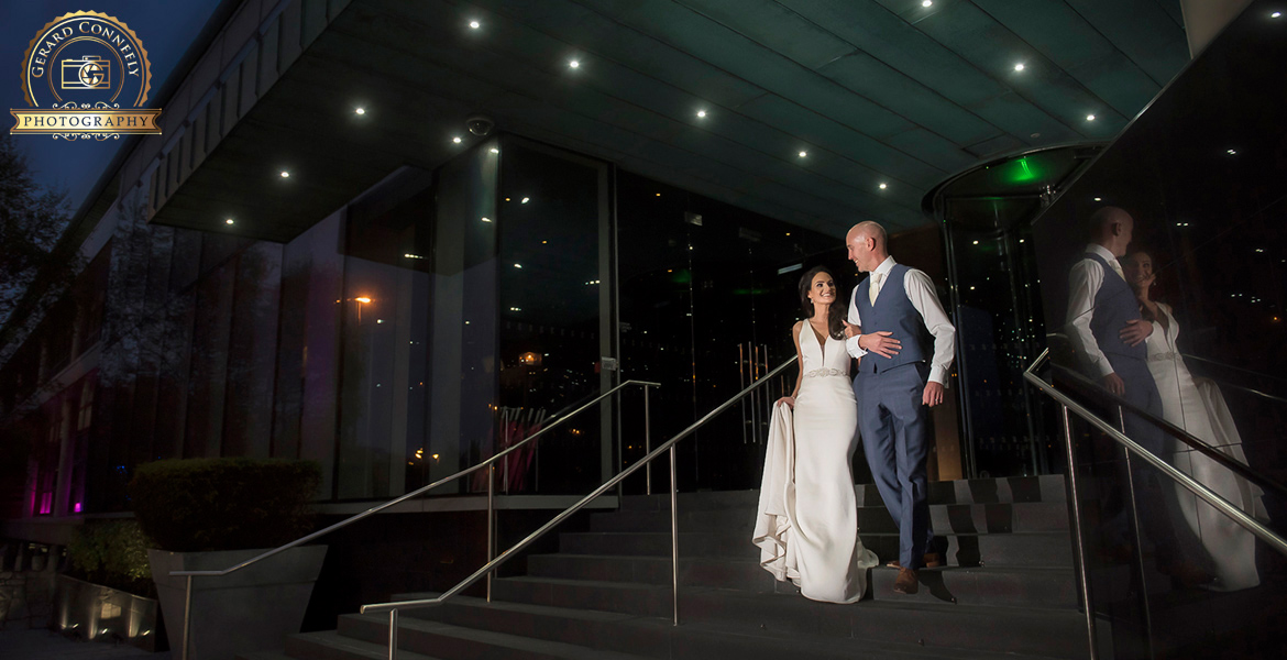 maried at the g hotel in galway wedding couple