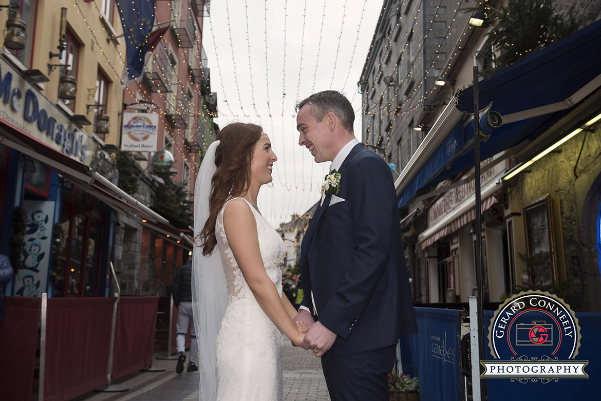 galway wedding bride groom quay street galway gerard conneely photography photo