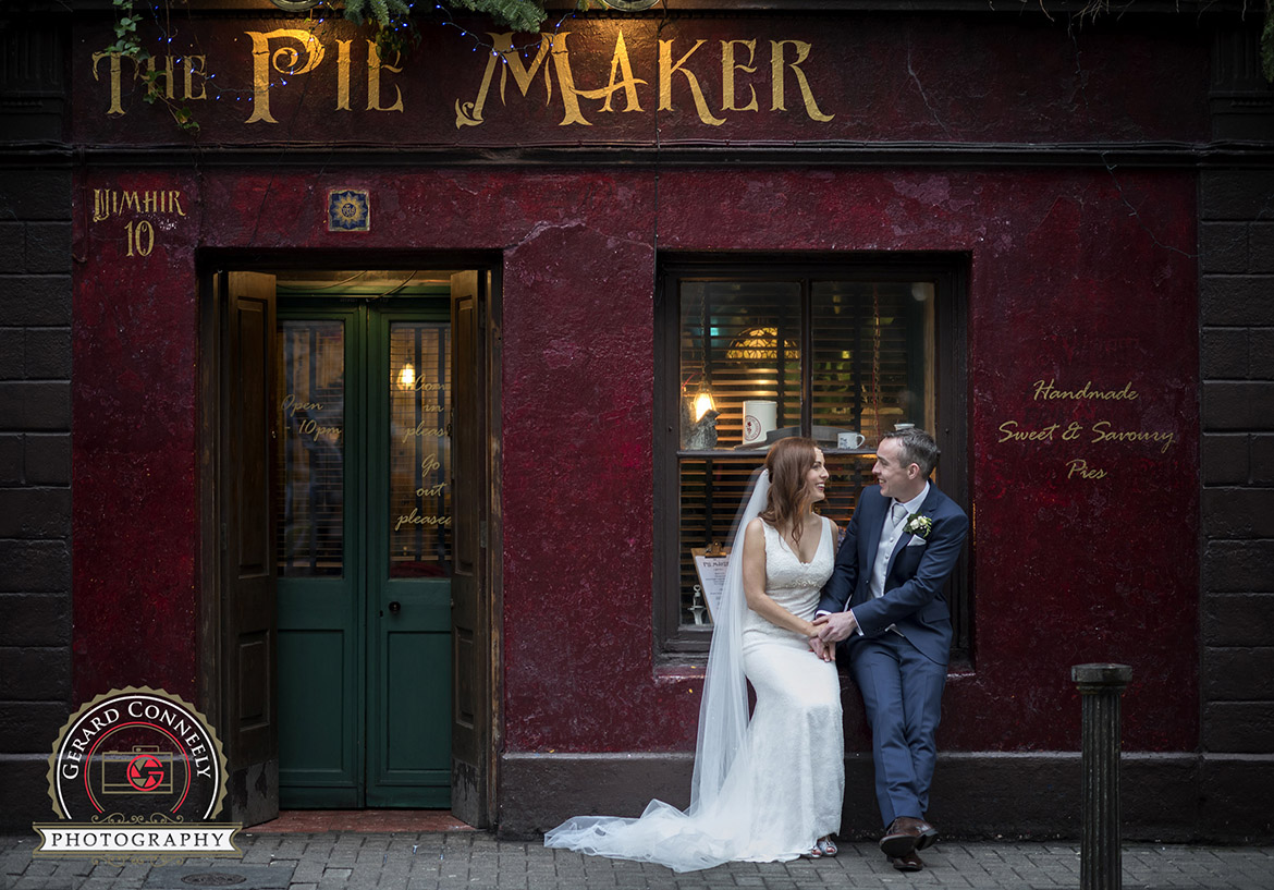 quay street galway wedding bride groom gerard conneeely photography photo