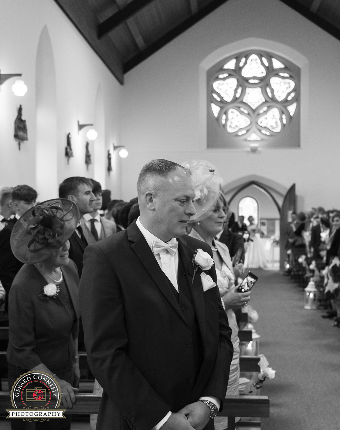 wedding Roveagh Church Kilcolgan