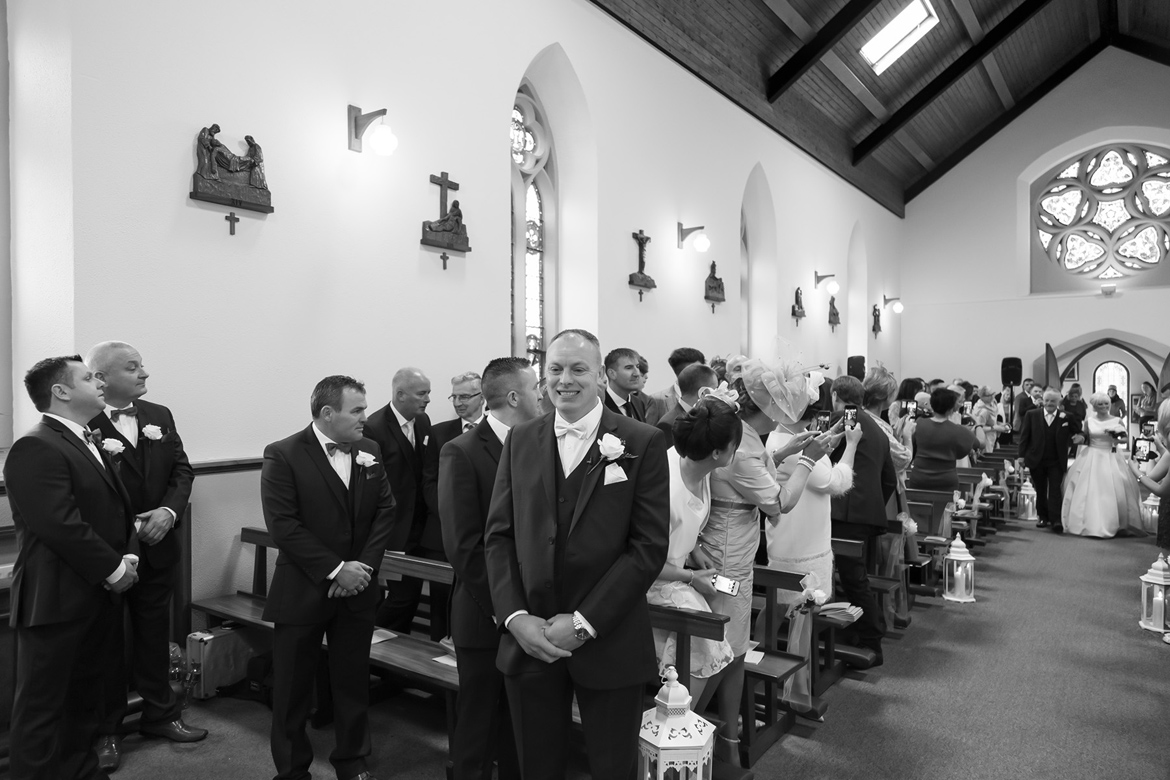 wedding ceremony at Roveagh Church Kilcolgan
