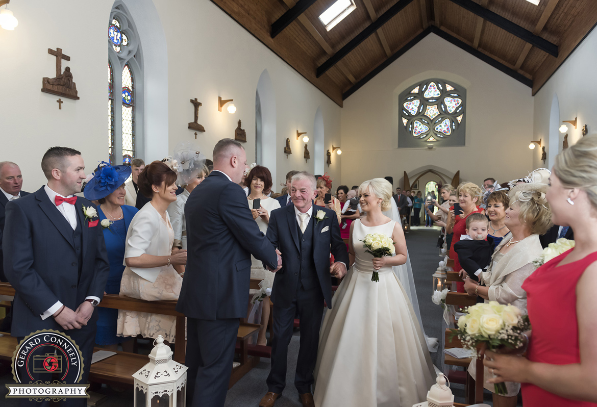 dad giving away daughter galway wedding