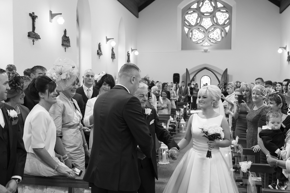 bride groom Roveagh Church Kilcolgan