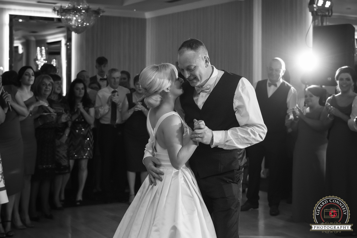 wedding bride and groom dancing salthill hotel in galway