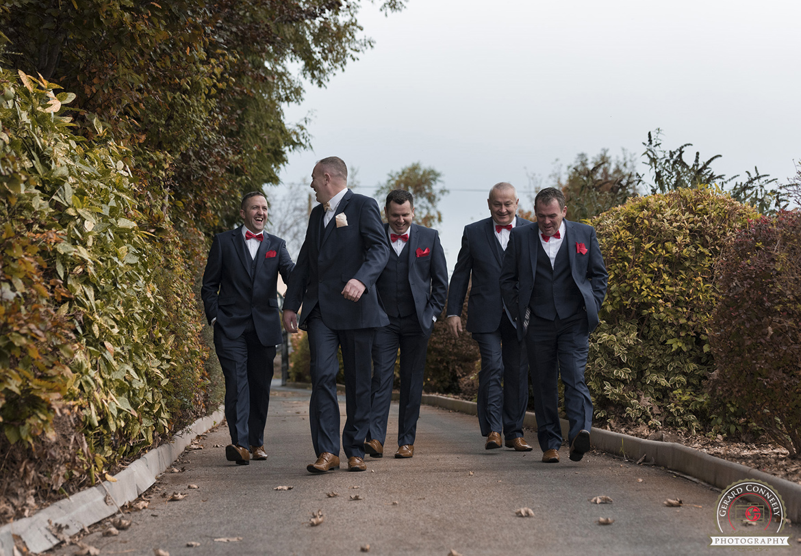 groomsmen wedding photography galway