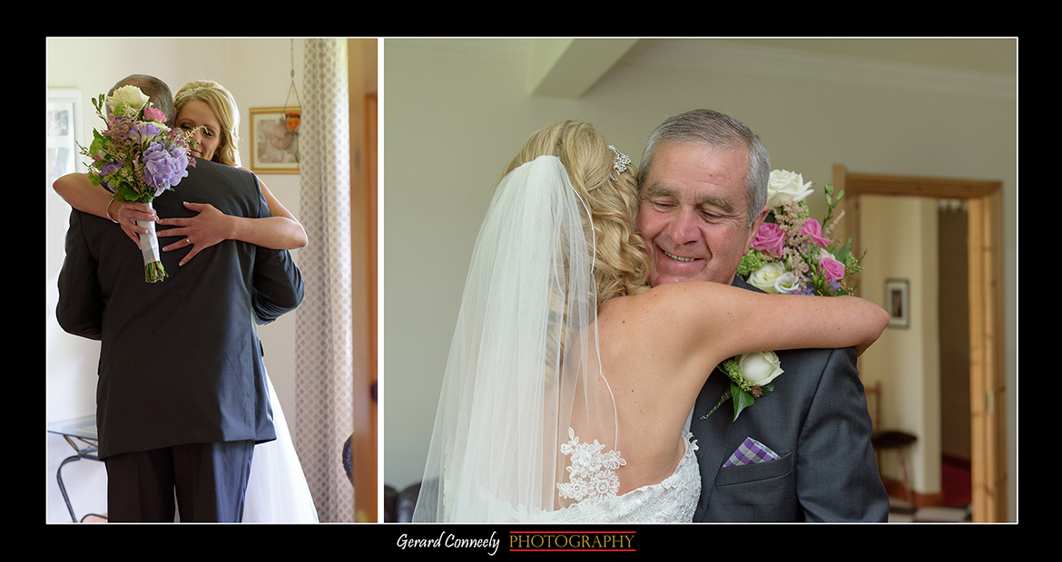 Dad sees bride on her wedding day by gerard conneely photography