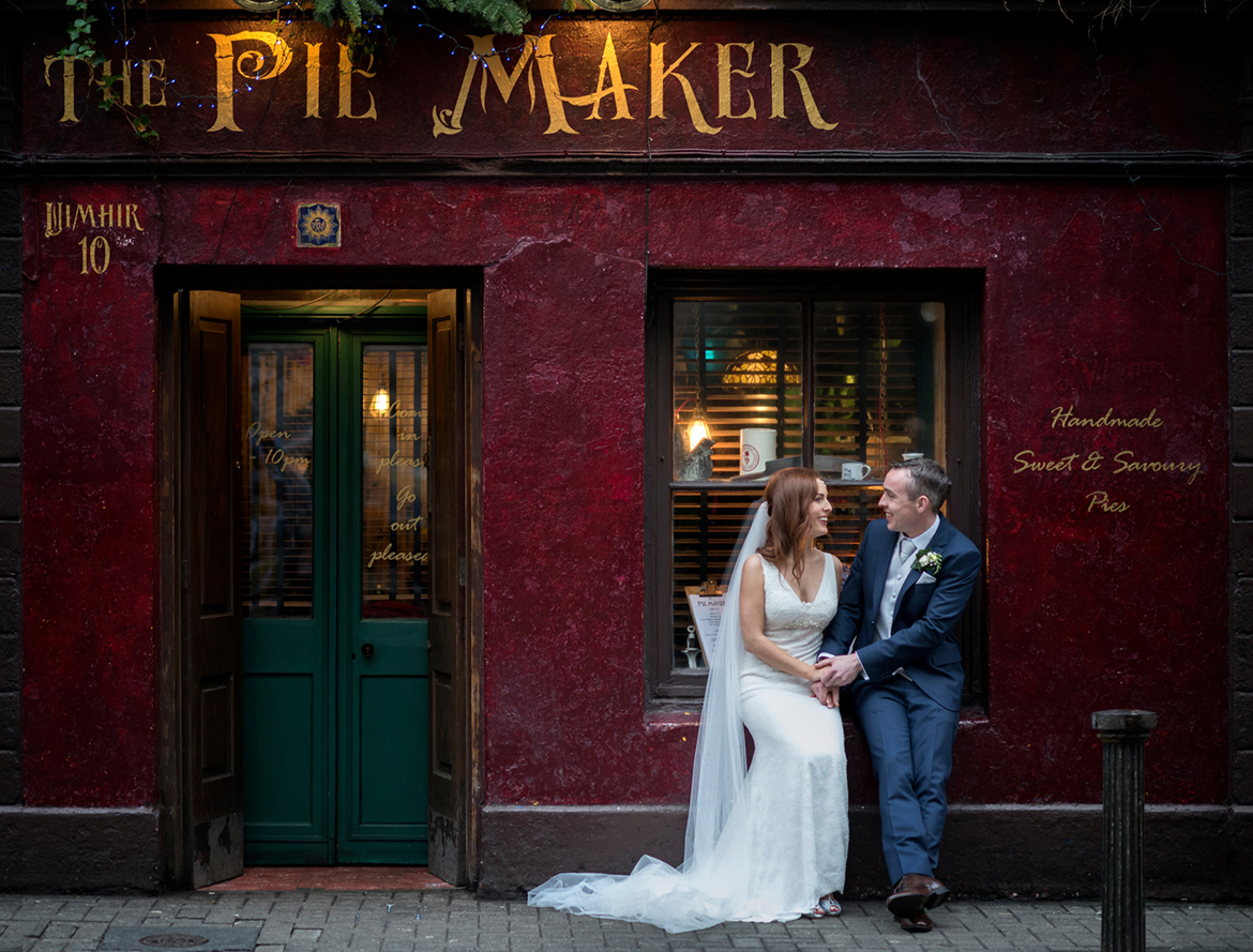 wedding photography at pie maker galway