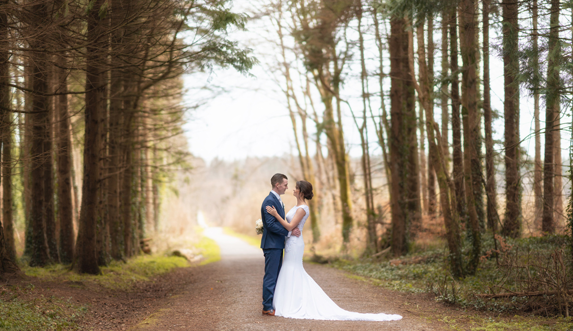 wedding photography in the woods