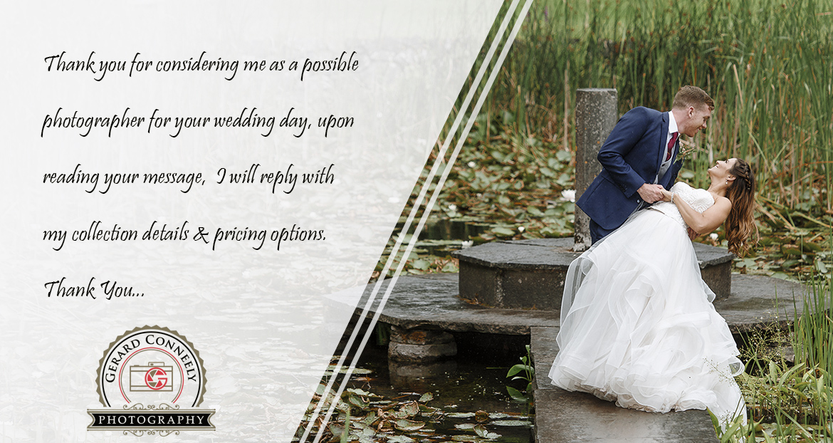 wedding photographer galway booking page image