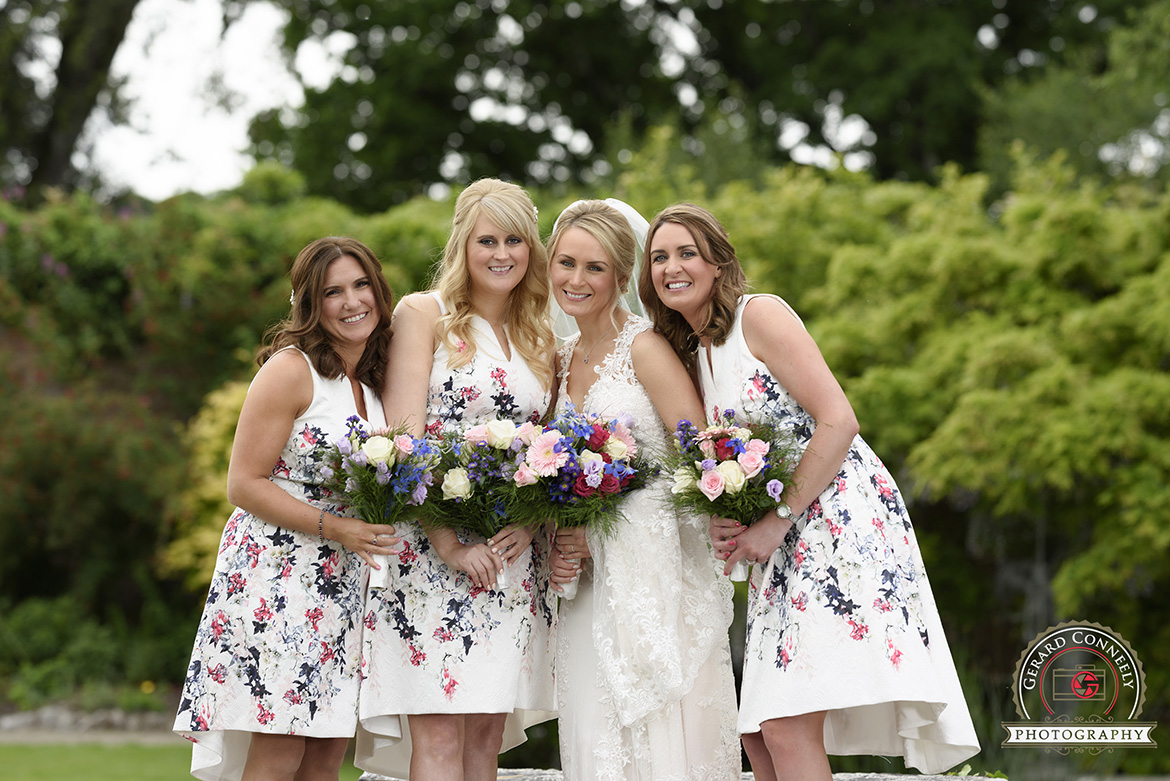 dromoland castle walled garden bridesmaids