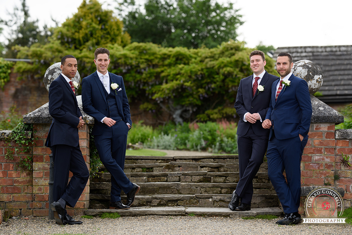 dromoland castle walled garden groomsmen