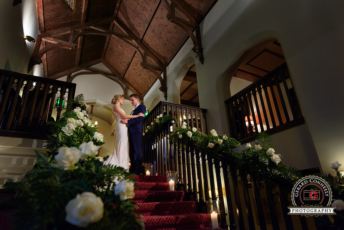 dromoland castle wedding day photo
