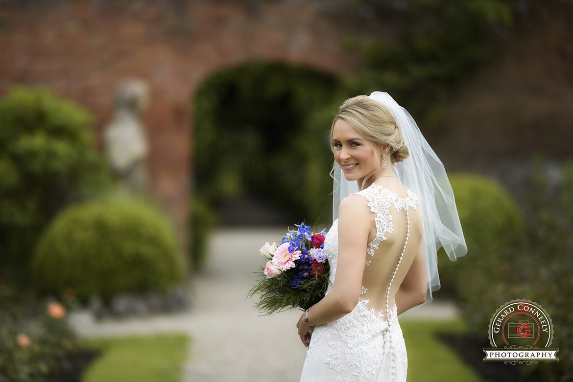dromoland castle wedding walled garden