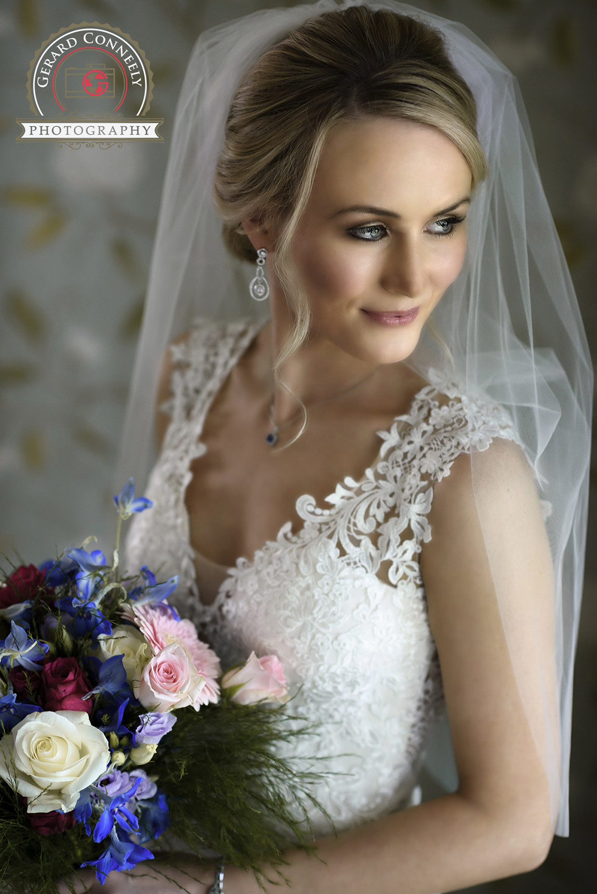 wedding dromoland castle bride portrait