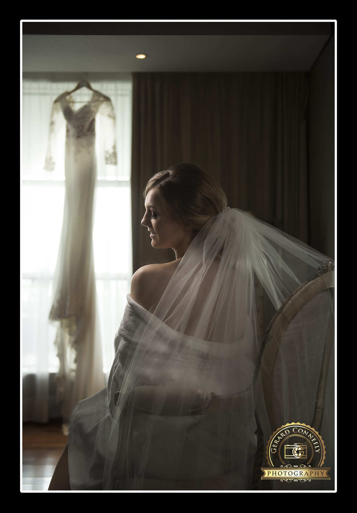 bride getting ready g hotel galway