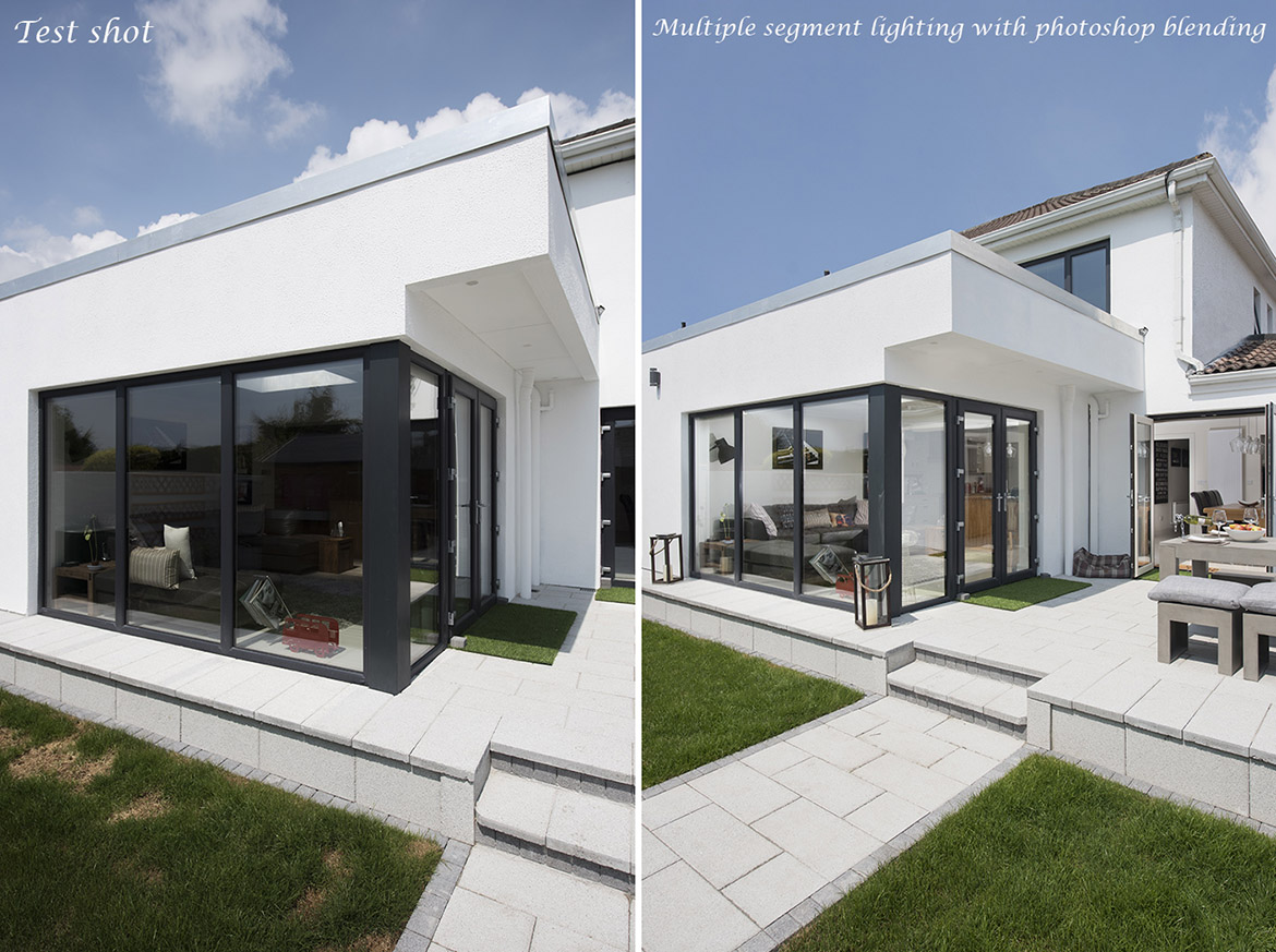 Property photography before and after edit
