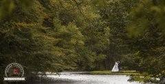 Wedding photography in Oughterard of bride and groom in a park