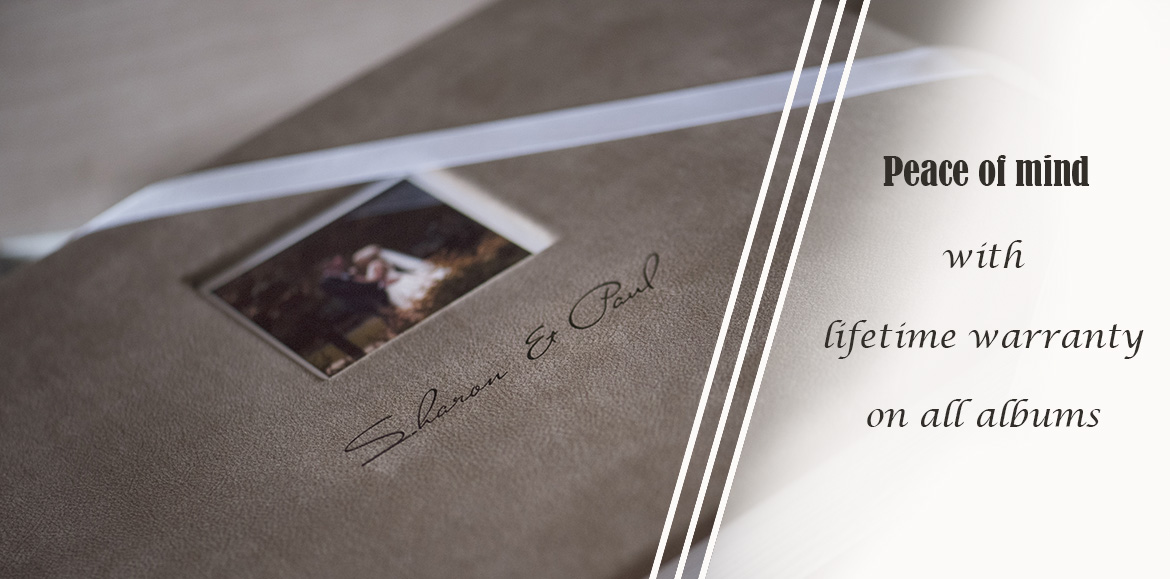 lifetime warranty on wedding albums