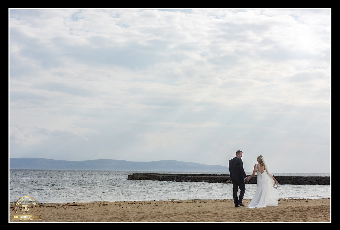 Wedding photography at the beach in Salthill Galway