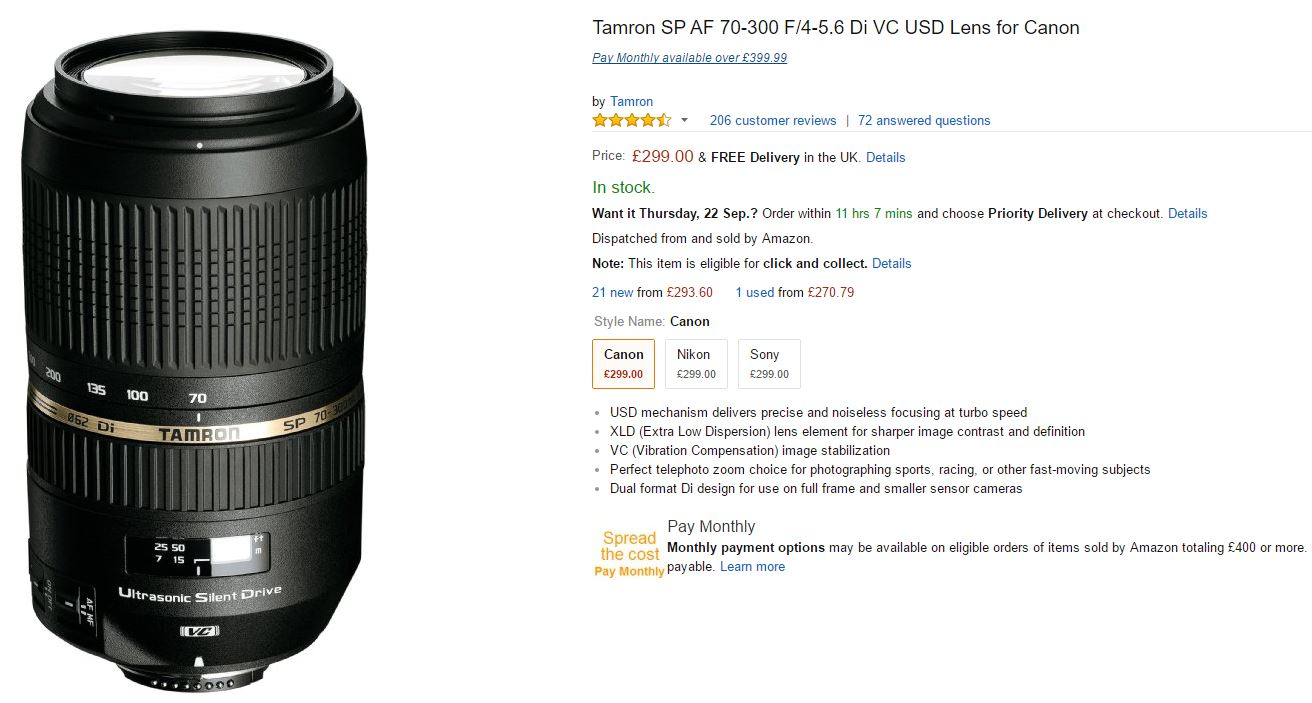 telephoto lenses for nikon canon sony