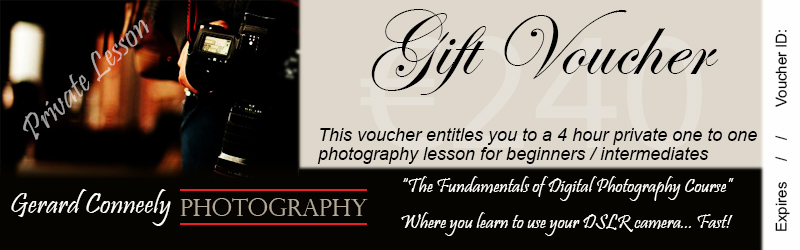 Photography Lesson Advanced Course Private Voucher Galway Christmas Gift Idea