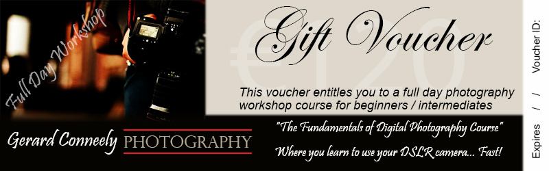 Photography Lesson Course Workshop Voucher Galway
