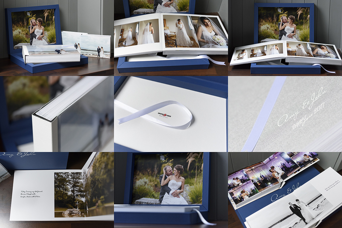 A gerard conneely photography wedding album by graphistudio Italy