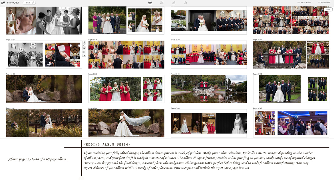 wedding albums galway design process