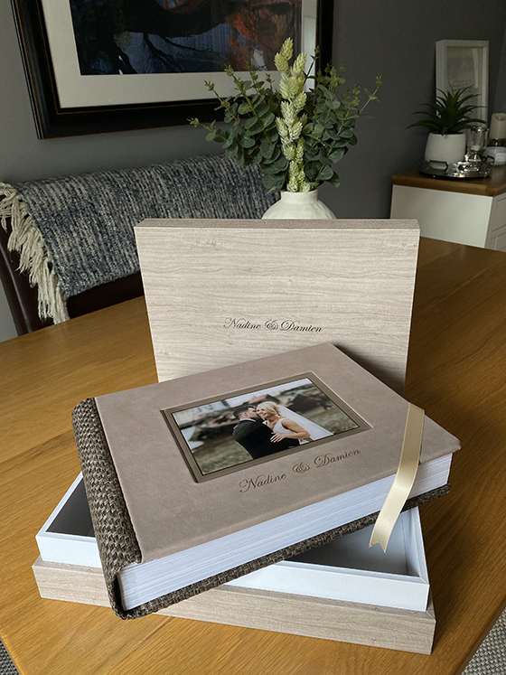 Luxury and modern wedding albums available in Galway and Ireland
